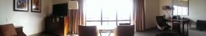 Panoramic view of Westin room 3650