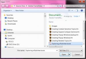 Selecting_FrameMaker_book